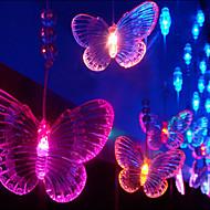 3Mx1.65M Seven Color Schmetterling LED-String-Lampe mit 60 LEDs - Weihnachten & Halloween Dekoration