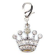 Dog tags Rhinestone Decorated Imperial Crown Style Collar Charm for Dogs Cats