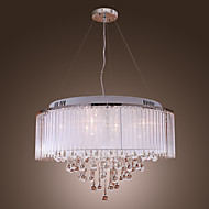 Max 20W Pendant Light ,  Modern/Contemporary / Drum Electroplated Feature for Crystal Metal Living Room / Bedroom / Dining Room