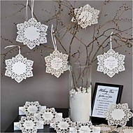 Nice, flocon de neige Tag - Lot de 12 (ruban non inclus)