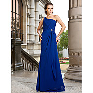 TS Couture® Formal Evening / Prom / Military Ball Dress - Royal Blue Plus Sizes / Petite A-line / Princess One Shoulder Sweep/Brush Train Chiffon