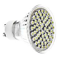 GU10 4W 60x3528 SMD 300-350lm 6000-6500K természetes fehér fény LED-es spot izzó (220-240V)