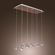 Pendant Light ,  Modern/Contemporary Chrome Feature for Crystal Metal Dining Room