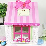 귀여운 집 모양의 케이크 상자 (12 세트)
