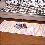Elaine színes pamut szőnyeg mintás csíkos (70 * 140cm, rózsaszín)