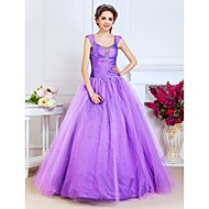 Prom/Formal Evening/Quinceanera/Sweet 16 Dress - Lilac Plus Sizes Ball Gown/A-line/Princess Scoop/Straps Floor-length Taffeta/Tulle