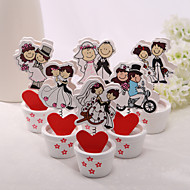 Place Cards and Holders Happy  Couple Placecard Holders - Set of 6 (Mixed Design)
