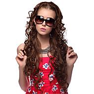 Capless Long Curly hochwertige synthetische Perücken