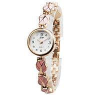 Unique Alloy Leaves Design Round Glass Quartz Women's Watch(More Colors)