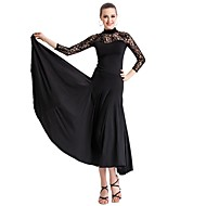 Ballroom Dancewear Viscose and Tulle Modern Dance Dress For Ladies