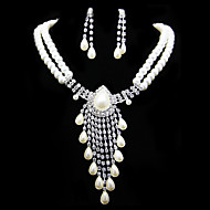 Women's Rhinestone/Imitation Pearl Jewelry Set