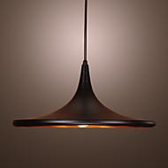 contemporaneo lampada a sospensione in alluminio con paralume nero