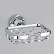 """Soap Dish Chrome Wall Mounted 140 x 130 x 50mm (5.51 x 5.11 x 1.96"""") Brass Contemporary"""