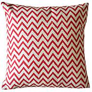 Cotton/Linen Pillow Cover , Chevron Country