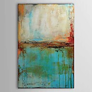 Hand-Painted Abstract Vertical,Traditional One Panel Oil Painting For Home Decoration