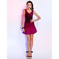 Cocktail Party Dress - Multi-color A-line Straps/Sweetheart Short/Mini Rayon