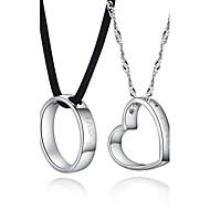 Halsband Pars Jubileum/Födelsedag/Gåva/Dagligen/Casual Silver