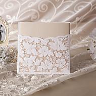 Elegant Floral Cut Wedding Invitation (Set of 50)