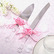 Stainless Steel Serving Sets Floral Theme Ribbon Gift Box