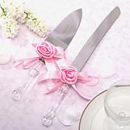 conjuntos que servem bolo de casamento faca personalizado cetim rosa bolo faca e conjunto de servidores