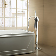 Bathtub Faucet Contemporary Handshower Included / Floor Standing Brass Chrome