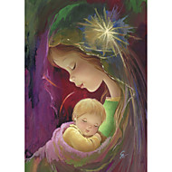 Stretched Canvas Art Cartoon Mother and Child by Vicki Giachini Ready to Hang