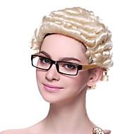 Capless høykvalitets syntetisk Kort Curly advokatens Hair parykker