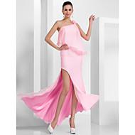 TS Couture® Prom / Formal Evening Dress - Open Back Plus Size / Petite Sheath / Column One Shoulder Floor-length / Asymmetrical Chiffon