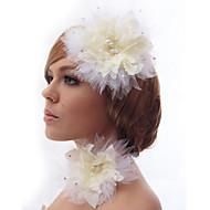 Fleurs Casque Mariage/Occasion spéciale/Casual/Bureau & Carrière/Outdoor Satin/Cristal/Tulle/Imitation de perle/TissuFemme/Jeune