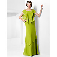 TS Couture® Formal Evening / Military Ball Dress - Clover Plus Sizes / Petite Sheath/Column Scoop / Straps Floor-length Chiffon