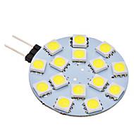 Luminária de Pin-Duplo G4 2 W 150 LM 6000K K Branco Natural 15 SMD 5050 AC 12 V
