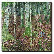 La madera de abedul de Gustavo Klimt famoso lienzo envuelto para galerías