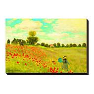 Campo de amapolas, c.1886 de Claude Monet famoso lienzo envuelto para galerías