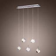 BRILON - Lustre Cristal com 5 Lâmpadas