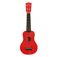Kid's Flower Pattern Plywood Soprano Ukulele(Red)