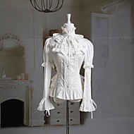 Long Sleeve Ruffled Collar White Cotton Princess Lolita Blouse