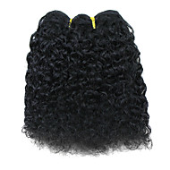 "8"" 100% Indian Hair Black Popular Wave Wefted Hair Extensions"