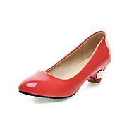 compatti vernice tacco grosso pompe scarpe casual (più colori)