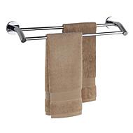 Chrome salle de bains en laiton Double Bar Porte-serviettes