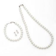 Damen Schmuck-Set Künstliche Perle Künstliche Perle/Legierung