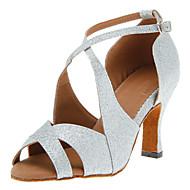 Chaussures de danse(Noir Rouge Argent Or) -Personnalisables-Talon Personnalisé-Paillette Brillante-Latine Salsa Salon