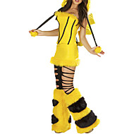 Cosplay Costumes / Party Costume Animal Festival/Holiday Halloween Costumes Yellow Solid / Patchwork Top / Skirt / Leg Warmers / Hats