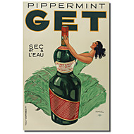 Painettu Canvas Art Vintage Pippermint toimeen Vintage Julisteet venytetty Frame