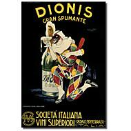 Tryckta Konst på kanvas Vintage Dionis från Vintage affischer med Sträckt Frame