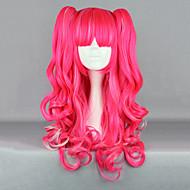 딸기 환상 핑크 곱슬 머리 떠꺼머리 65cm 펑크 로리타 가발