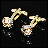 Gift Groomsman Gold Irregular Cufflinks