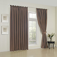 TWOPAGES® One Panel  Solid Brown Classic Room Darkening Curtain