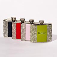 geschenk groomsman / bruidsmeisje gepersonaliseerde strass 5-oz fles (meer kleuren)