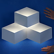 3W Modern Decor LED Wall Light Metal Cubic Shade Geometric Design