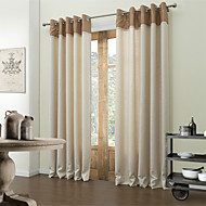 Two Panels Okno Leczenie Współczesne , Stały Salon Poliester Materiał Zasłony zasłony Dekoracja domowa For Okno